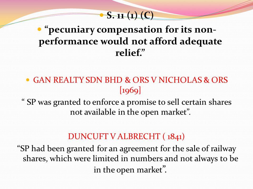 GAN REALTY SDN BHD & ORS V NICHOLAS & ORS [1969]